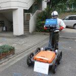 地中レーダー探査(電磁波レーダ) SIR-3000を使用しました。