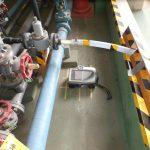 排水処理場、埼玉県南東部にて、電磁波レーダ+ダイヤモンドコア穿孔工事