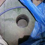 埼玉県東部の中継ポンプ場にてグラウト工事をしてきました。スラブに穴が開いています。