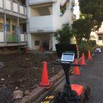 多摩地区の都営アパートにて地中探査(電磁波レーダ)をして来ました、今回は残りの3棟です。