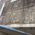 東北新幹線の橋脚の電磁波レーダ探査をしてきました。