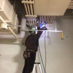 千葉県内の地下駐車場にてX線探査とダイヤモンドコア穿孔工事をしてきました。