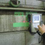 都内の総合体育館にて電磁波レーダ探査をしてきました。
