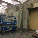 江東区の青海にて倉庫の改修工事でX線探査(レントゲン撮影)、レーダ探査です