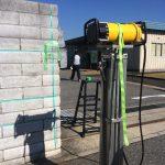 市原市の学校でブロックの配筋調査です、X線探査(レントゲン)とレーダ探査です。