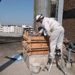 横浜にて鉄塔の基礎補強工事です。