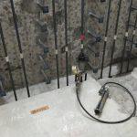 埼玉県内の排水処理場にて引張り試験をしてきました。