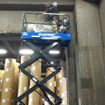 東京都内の某倉庫にてX線探査(レントゲン)とダイヤモンドコア穿孔工事をしてきました。