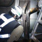 都内某地下鉄にてダイヤモンドコア穿孔工事をしてきました。