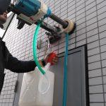 東京都内のテナントビルにてX線探査とダイヤモンドコア穿孔工事をしてきました。