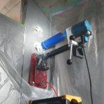 東京都内の某地下鉄にてダイヤモンドコア穿孔工事をしてきました。