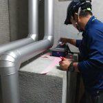 都内の公共施設にて電磁波レーダ探査とX線探査をしてきました。