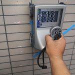 埼玉県内の某社員寮にて電磁波レーダ探査をしてきました。