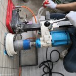 埼玉県内の某社宅にてX線探査とダイヤモンドコア穿孔工事をしてきました。